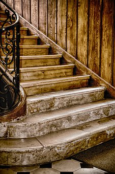 Staircase, Wood, Former, Marble, Stairs, Building
