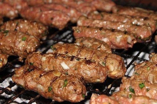 ćevapčići, ćevapi, Minced Meat, Barbeque, Meat, Food