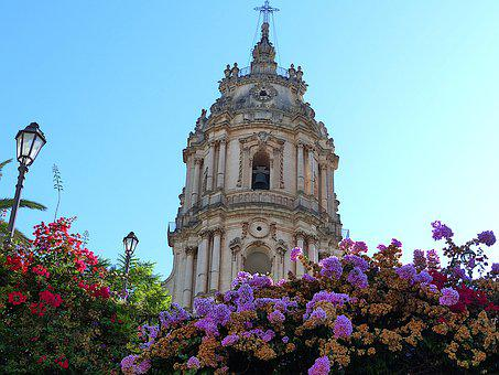 Architecture, Sicily, Modica, Cathedral, Old, Pierre