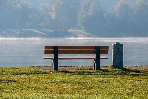 Bank, Lake, Fog, Nature, Landscape, Rest, Water, Autumn