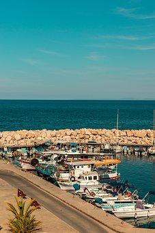 Pomos, Harbor, Cyprus, Port, Sea, Summer, Boats, Boat
