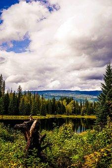 Canada, Lake, Clouds, Nature, Landscape, Water, Sky