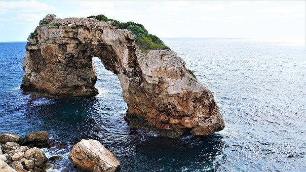 Felsentor, Mediterranean, Mallorca, Spain, It Pontas