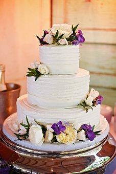 Wedding Cake, Flowers, Cake, Wedding, Celebration