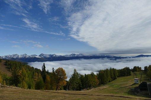 Mountains, Landscape, Nature, Clouds, Forest