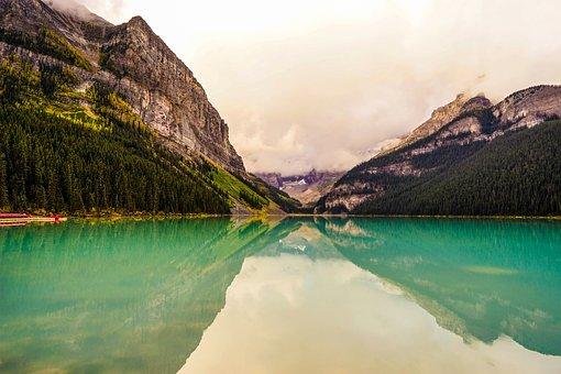 Canada, Bergsee, Horizon, Landscape, Lake, Nature