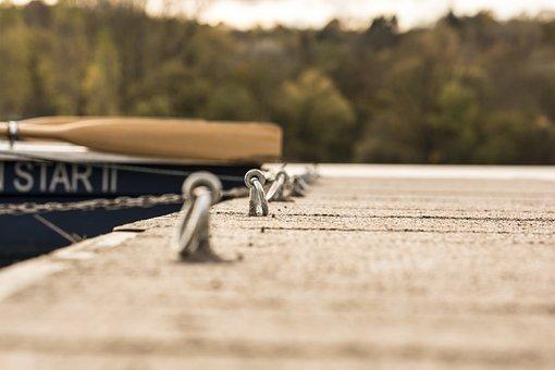 Web, Boat, Water, Lake, Pier, Jetty, Rowing Boat