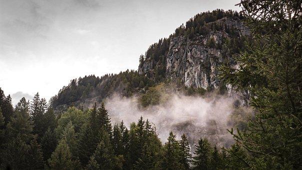 Mountains, Fog, Landscape, Nature, Sky, Clouds