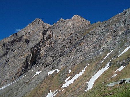 Snow, Blue Sky, Landscape, Mountains, Dachstein, Nature
