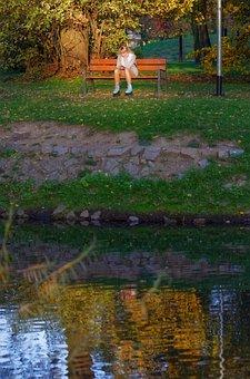 Landscape, Autumn, Nature, Park, Lake, Water, Trees