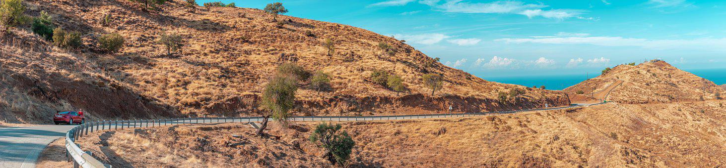 Panorama, Cyprus, On The Road, Landscape, Scenery
