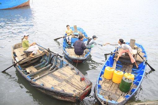 Boat, Lagi, Port, Vietnam, Fishing Village