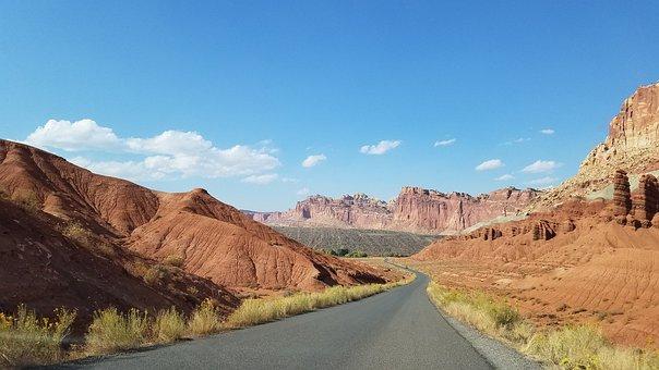 Canyon, Capitol Reef, Utah, Outdoors, Desert, Scenic