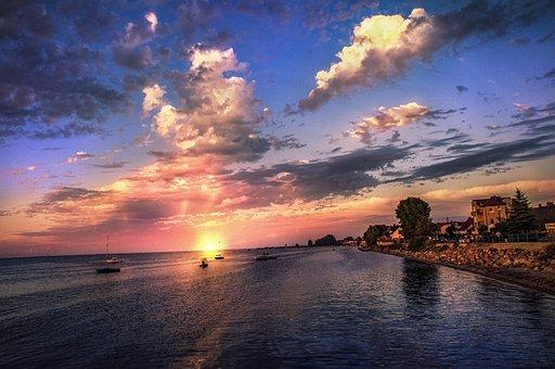 Sea, West, Landscape, In The Evening, Beautiful