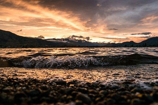Water, Sunset, Sea, Beach, Sunrise, Dusk, Landscape