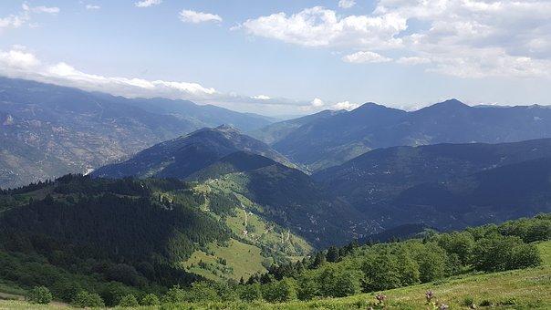 Nature, Landscape, Sky, Clouds, Blue, Trees, High, Calm