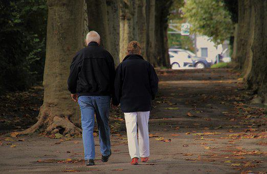 Senior, Para, Autumn Walk, Two, In The Park