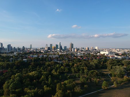 Poland, Warsaw, City, Skyline, View