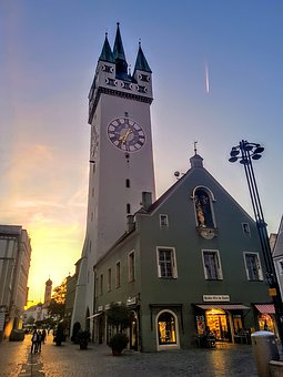 Straubing, City Tower, Bavaria