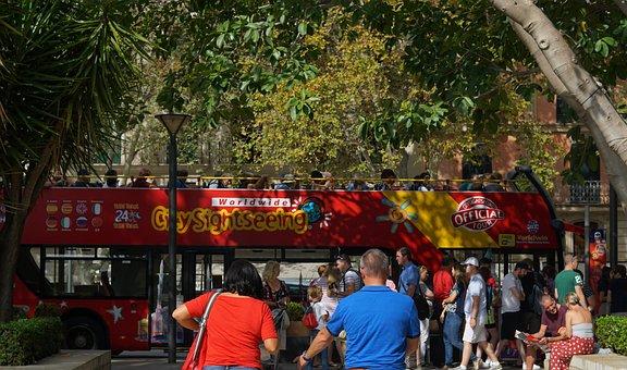 Palma De Mallorca, City, Bus, Visit, Leisure, Tourists
