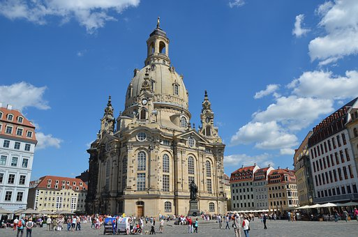 Dresden, Germany, Frauenkirche, Church, Saxony