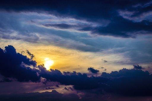 West, The Sun, Sky, Clouds, Twilight, Mood, Cloud