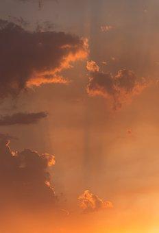 Sunset, Smoke, Clouds, Bushfire, Fire, Sky, Orange
