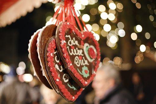 Gingerbread, Gingerbread Heart, Year Market, Frosting