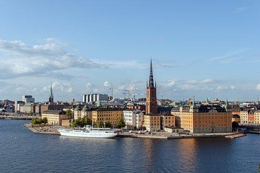 Historic Center, Stockholm, Sweden, City, Port