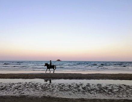 Hua Hin, He Tao, Nature, Sea, Beach, Sunset