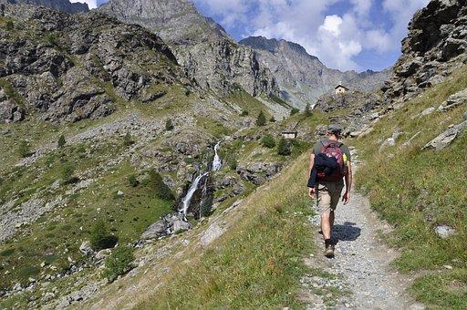 Mountain, Trekking, Monviso, Summer, Sky, Landscape