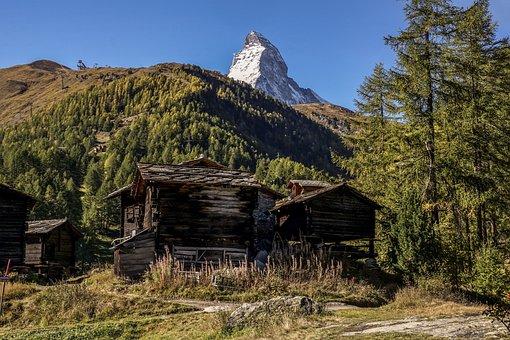 Matterhorn, Switzerland, Alpine, Mountain, Landscape