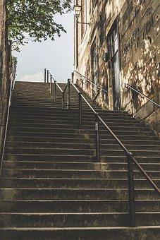 Stairs, Handrail, Architecture, Stairway, Steps, Metal