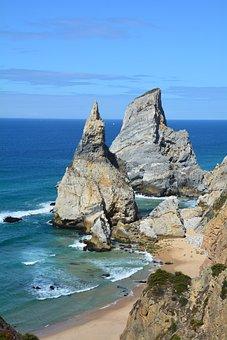 Portugal, Praia Da Ursa, Rocky, Ocean, Coastline