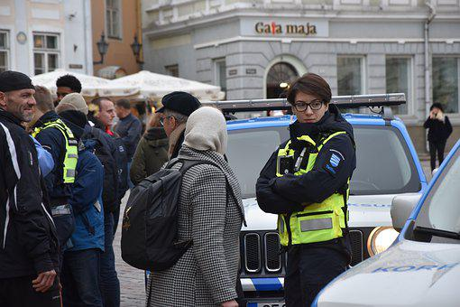 Tallinn, Girl In Uniform, People, Police, Person, Group