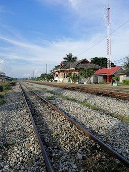 Rail Tracks, Train, Railroad, Transportation, Travel