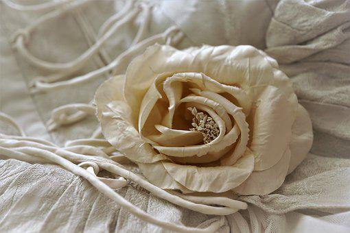 Rose, Flower, Fabric, Artificial, Texture