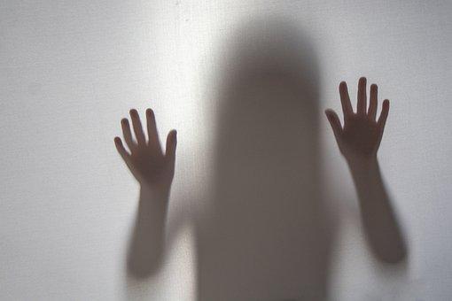 Shadow, Silhouette, Mystery, Girl, People, Alone, Fear