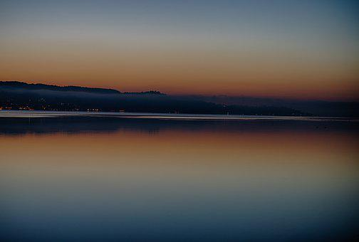 Sunrise, Dawn, Mood, Nature, Waters, Lake, Sky