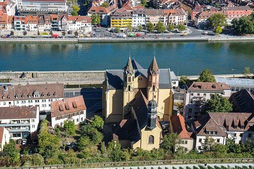 Würzburg, Main, Promenade, Church, St, Burkard