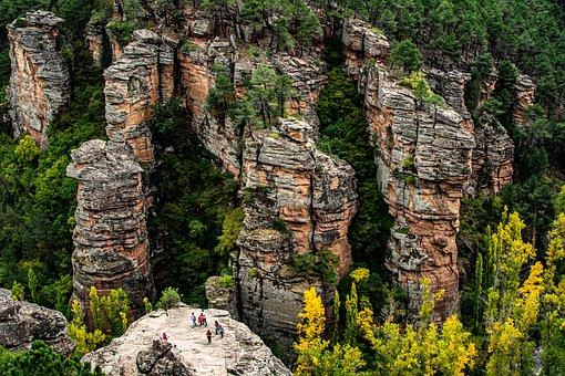 Rocks, Nature, Landscape, Trees, Hiking