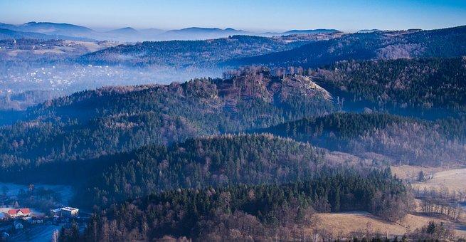 Mountains, Landscape, Winter, Nature, Mood, Hill