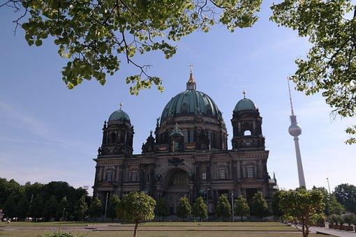 Berlin, Dom, Alex, Tv Tower, City, Cities Tour, Summer