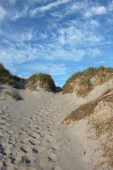 Beach, Dune, Sand, Landscape, Denmark