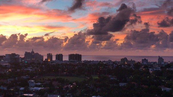 Beach, Sunrise, Miami Beach