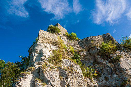 Castle, Rock, Landscape, Middle Ages, Burgruine