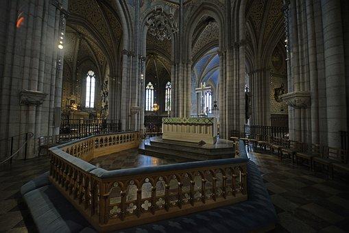 Cathedral, Uppsala, Sweden, Altar, Interior, Church
