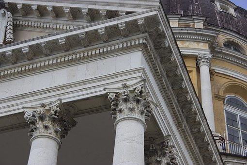 Church, Italy, Turin, Detail, Architrave