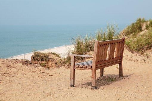 Red Cliff, Bank, North Sea, Dunes, Sea, Coast
