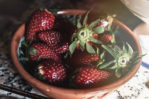 Strawberries, Fruit, Red, Healthy, Eat, Food, Dessert